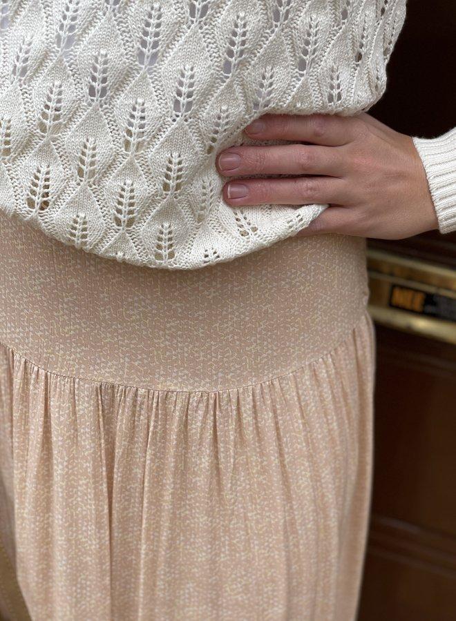 Yaya pointelle knit sweater sand
