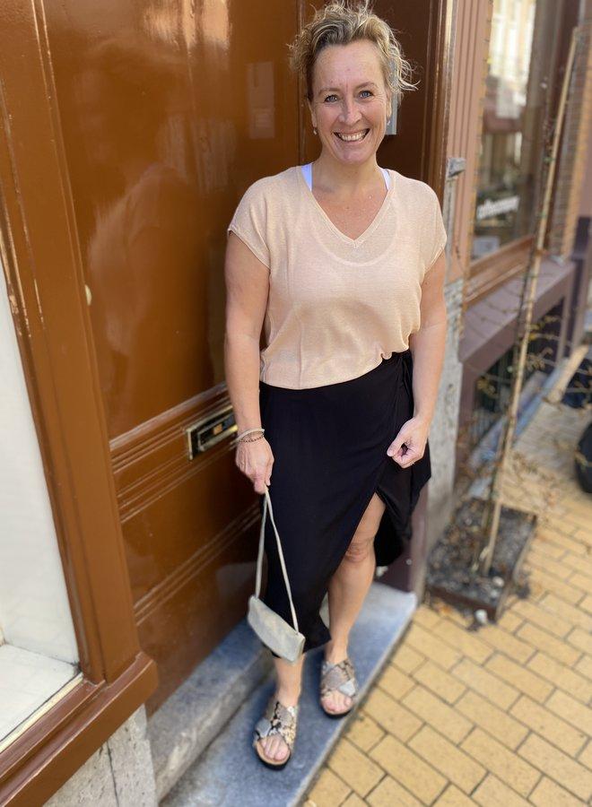 SF minora wrap skirt black