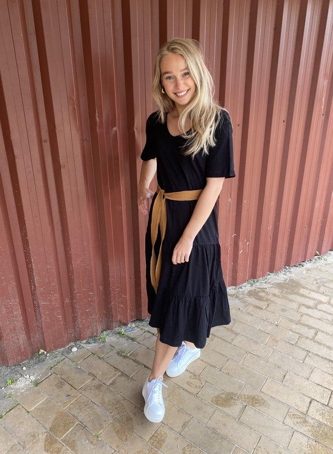 SF reed midi dress black