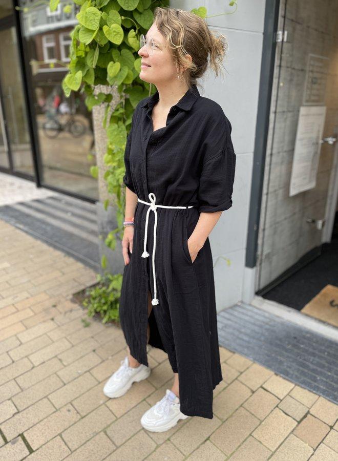 10DAYS crinkle dress black