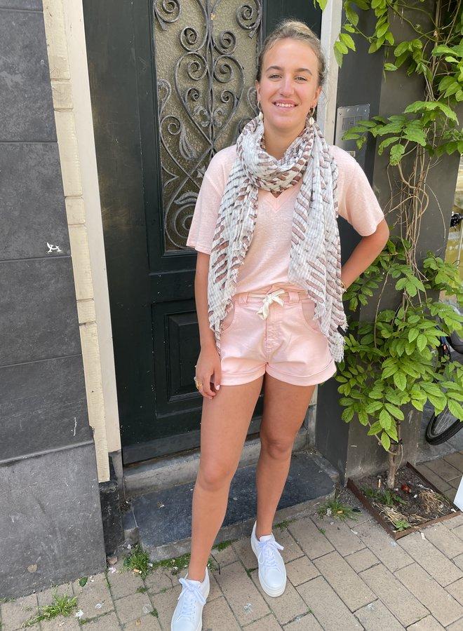10days denim shorts pink
