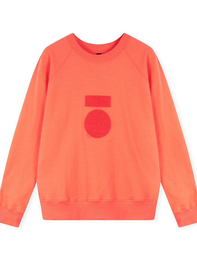 10DAYS sweater terry coral