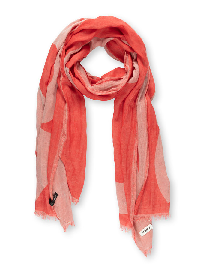 10DAYS scarf ikat coral