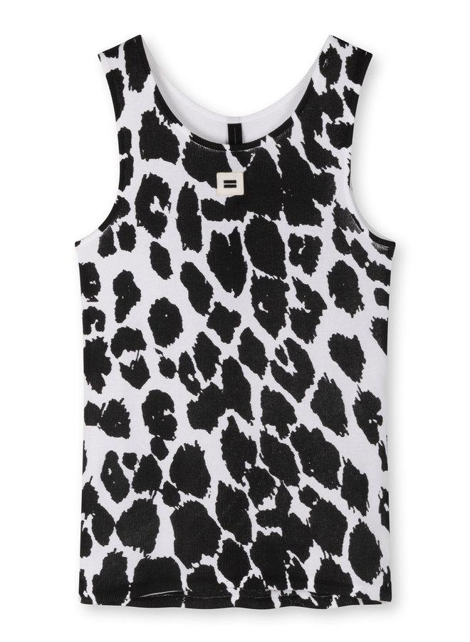 10DAYS tank top leopard white