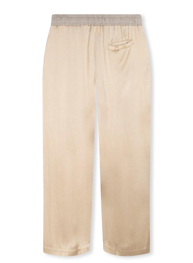 10DAYS wide pants satin cement