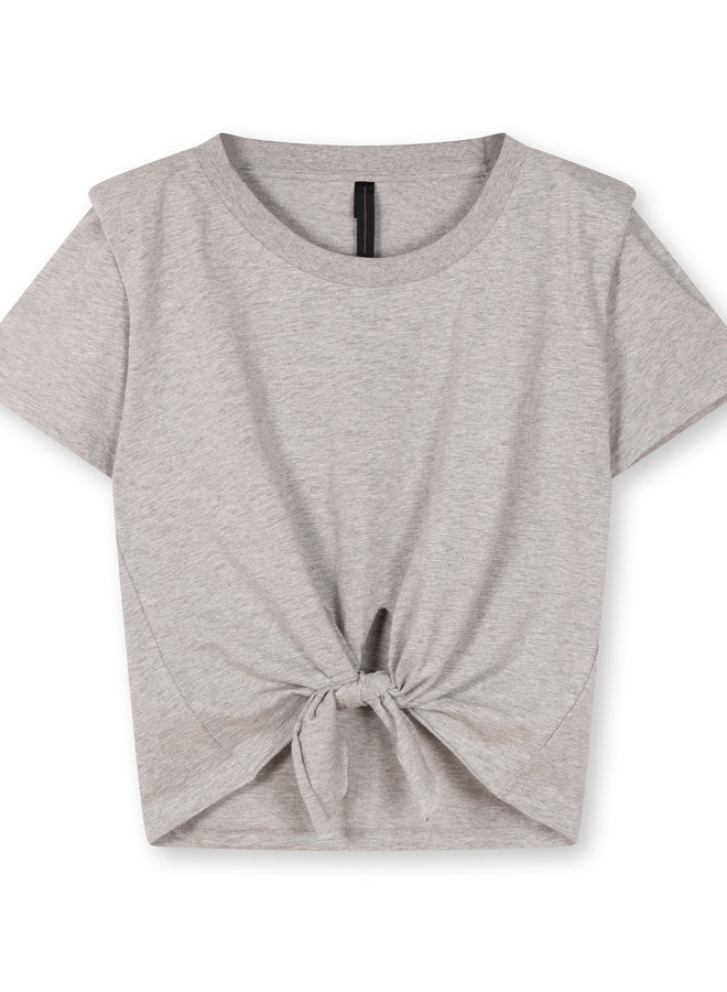10DAYS knotted tee grey