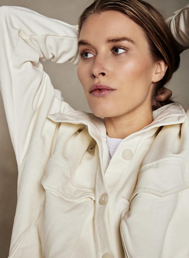 10DAYS jacket fleece ecru
