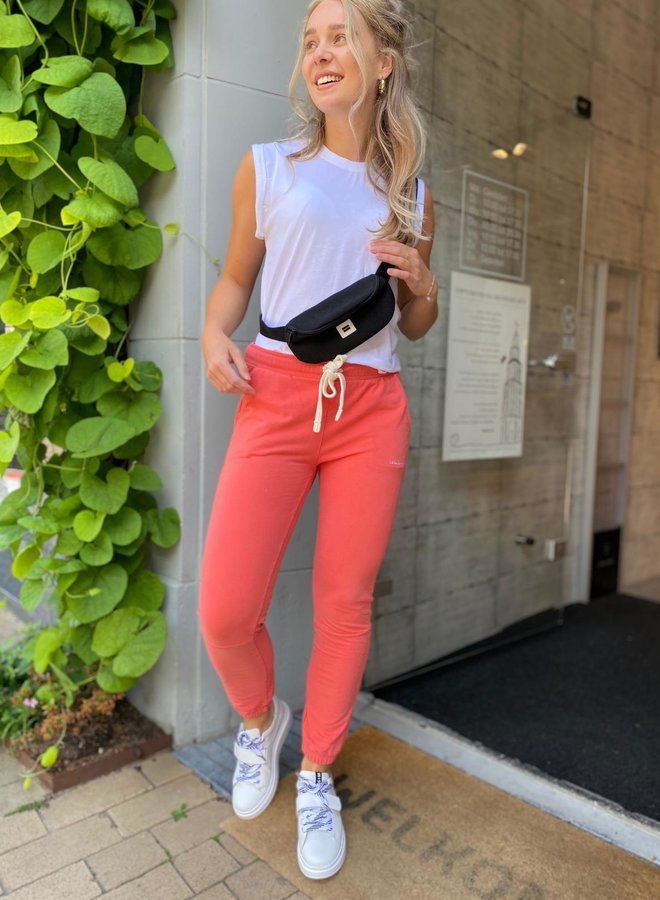 10DAYS cropped jogger coral
