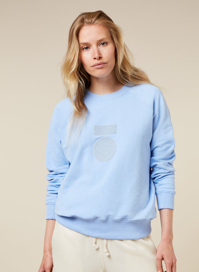 10DAYS sweater terry blue