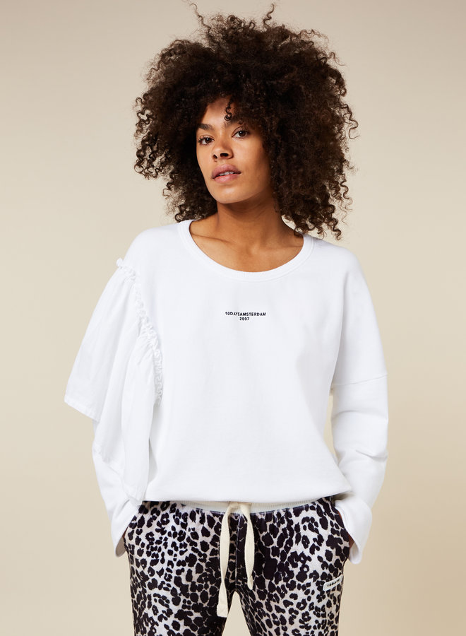 10DAYS sweater voile white