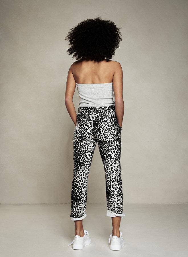 10DAYS high waist jogger leopard