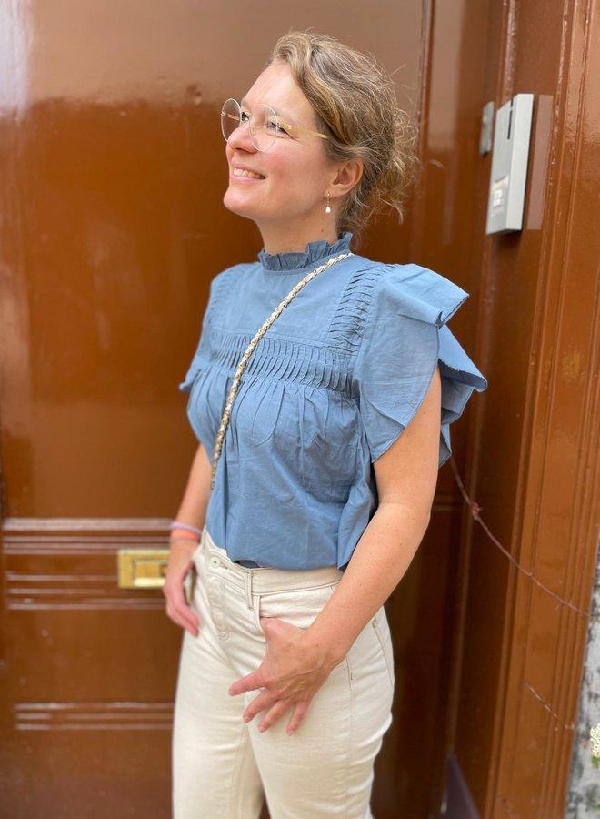 Circle livana blouse blue