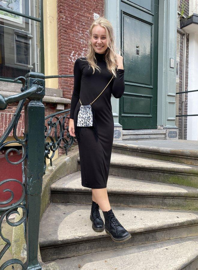 Denham louisa dress black