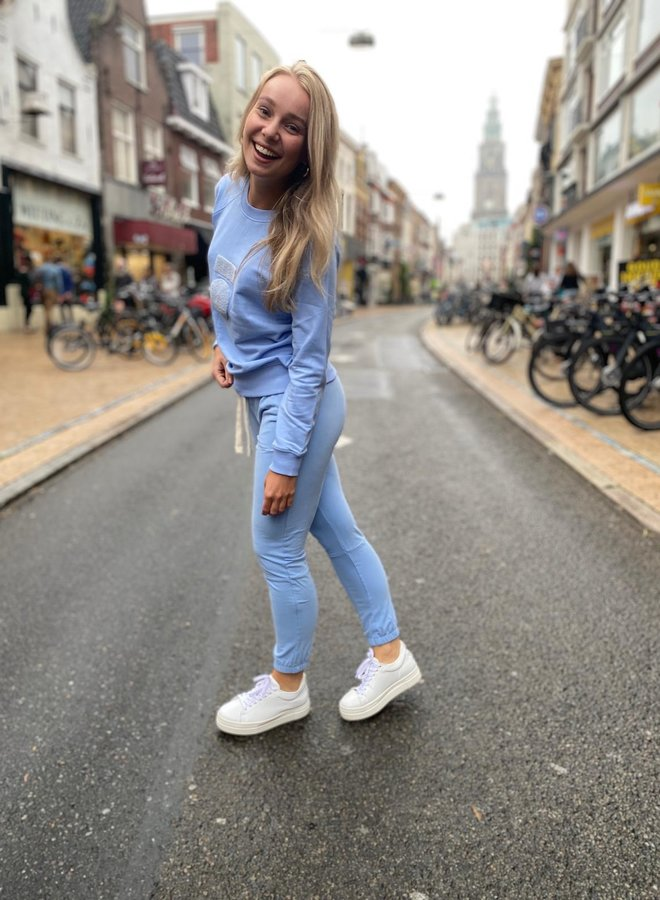 10DAYS cropped jogger blue