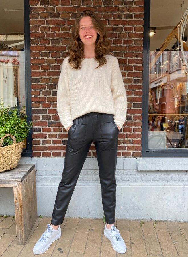Penn&Ink W21N1020 leatherlook trousers black