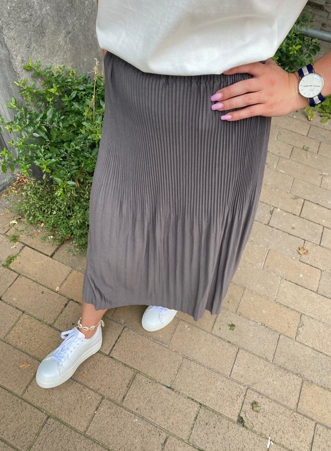 Yaya jersey skirt grey