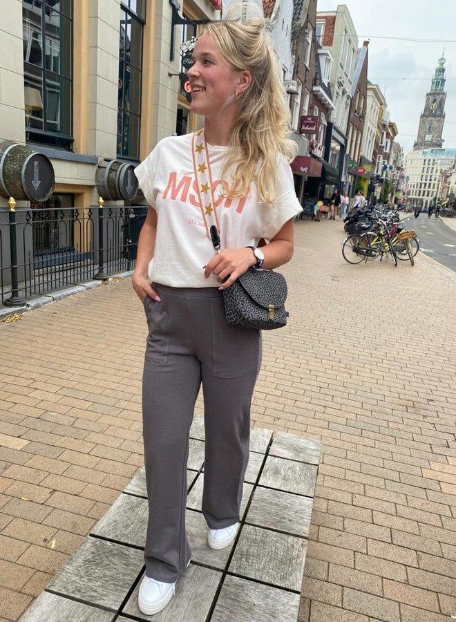 Yaya wide leg trouser grey