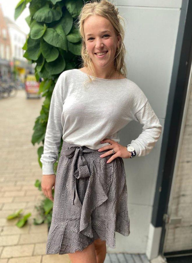 Yaya wrap skirt grey dessin