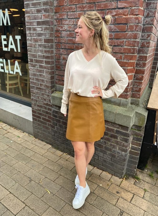 SF ibi leather skirt rubber