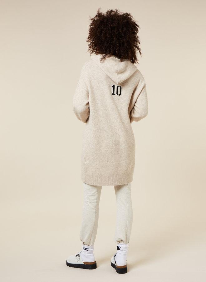 10DAYS hoodie dress cement