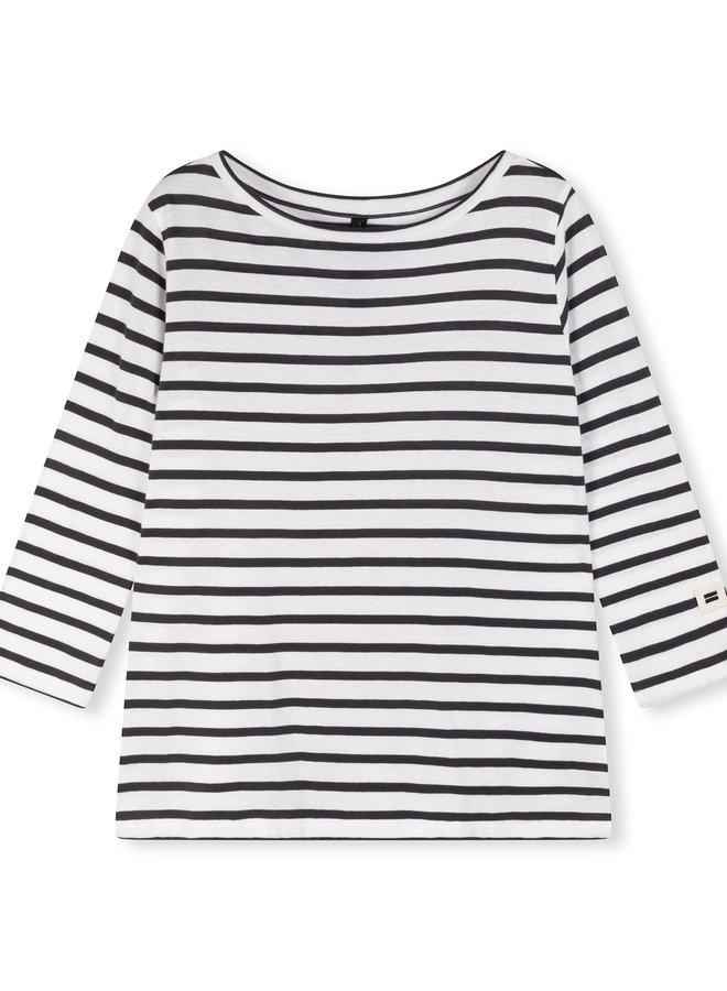 10DAYS longsleeve tee stripe white/grey