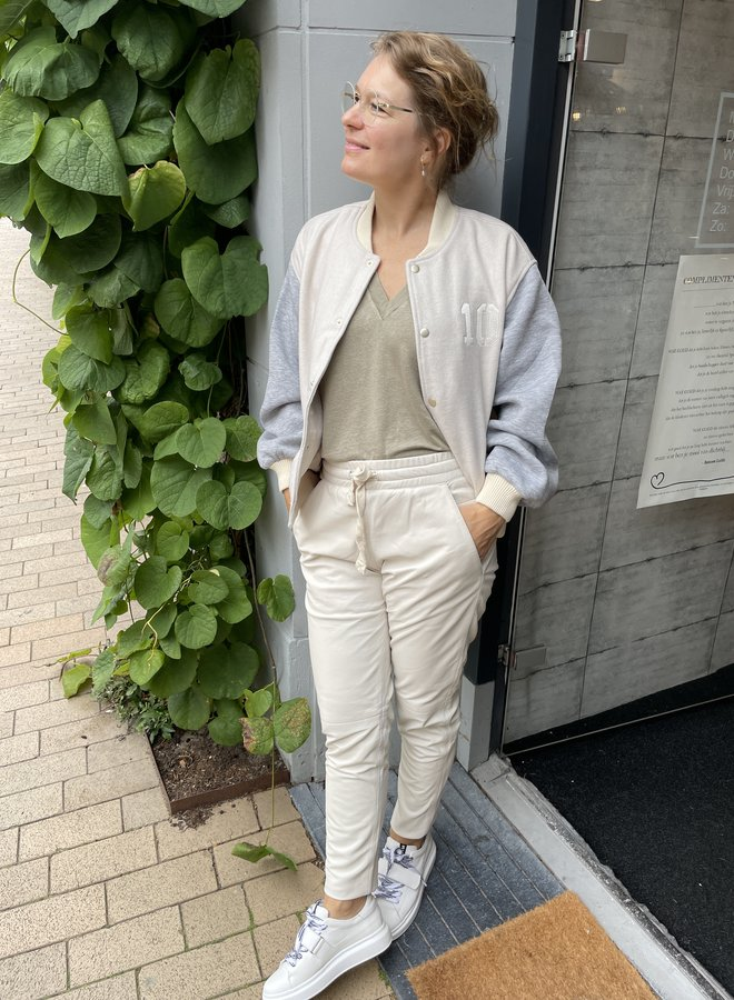 10DAYS leather jogger white