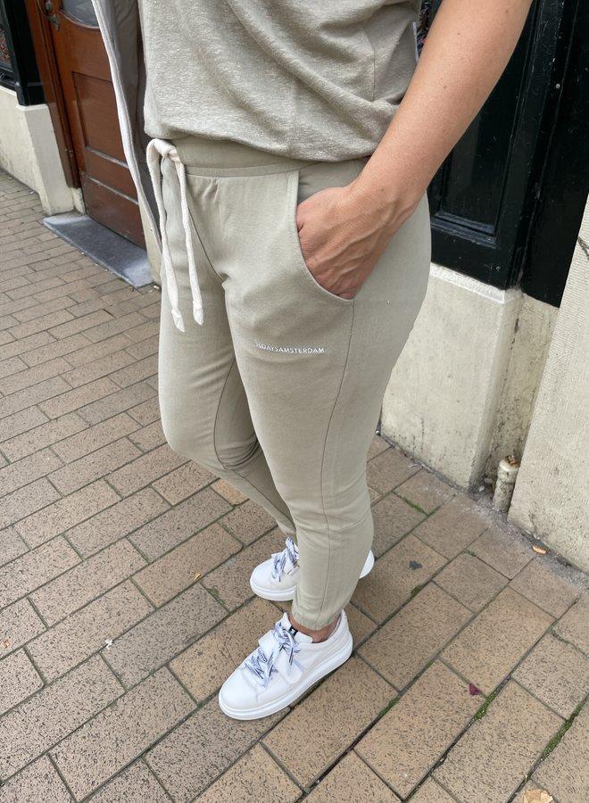 10DAYS cropped jogger khaki