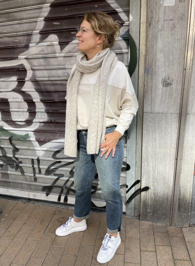 Denham bardot straight jeans blue
