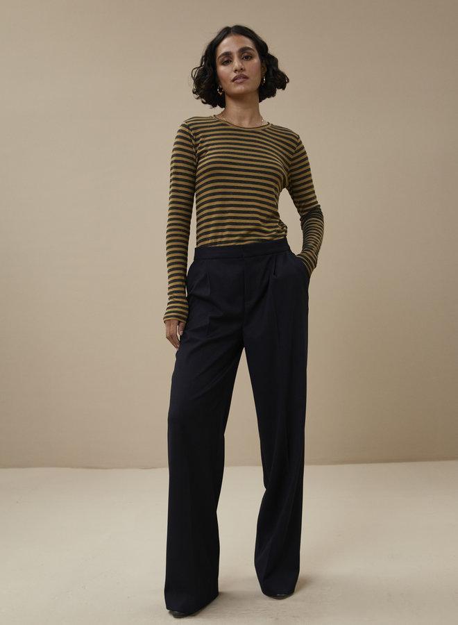 By Bar basic stripe shirt khaki