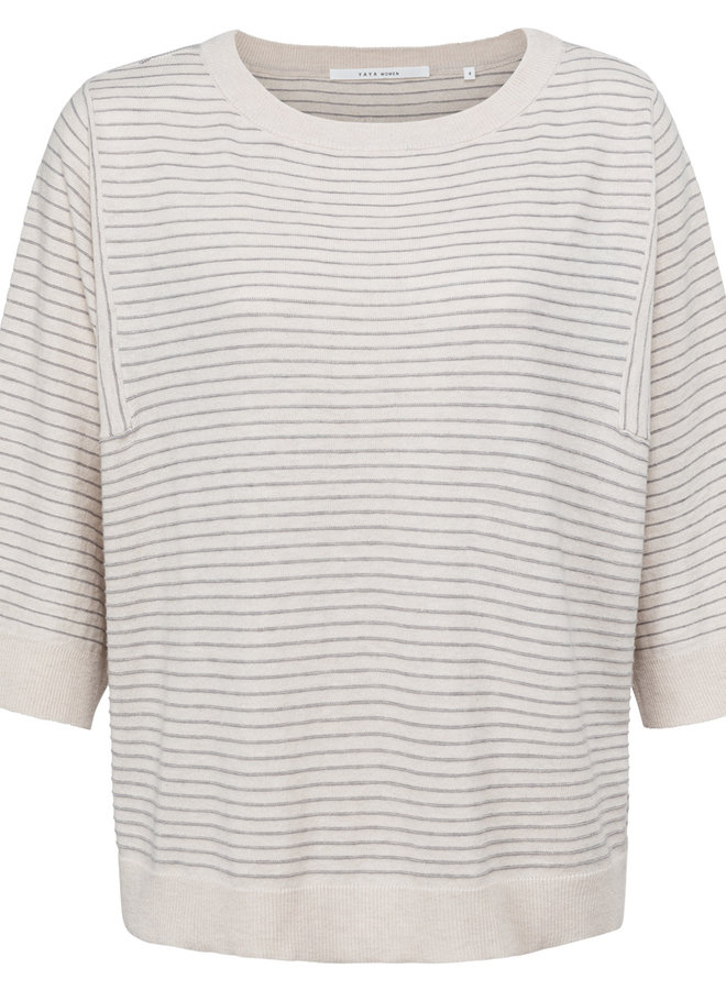 Yaya short sleeves sweater stripe