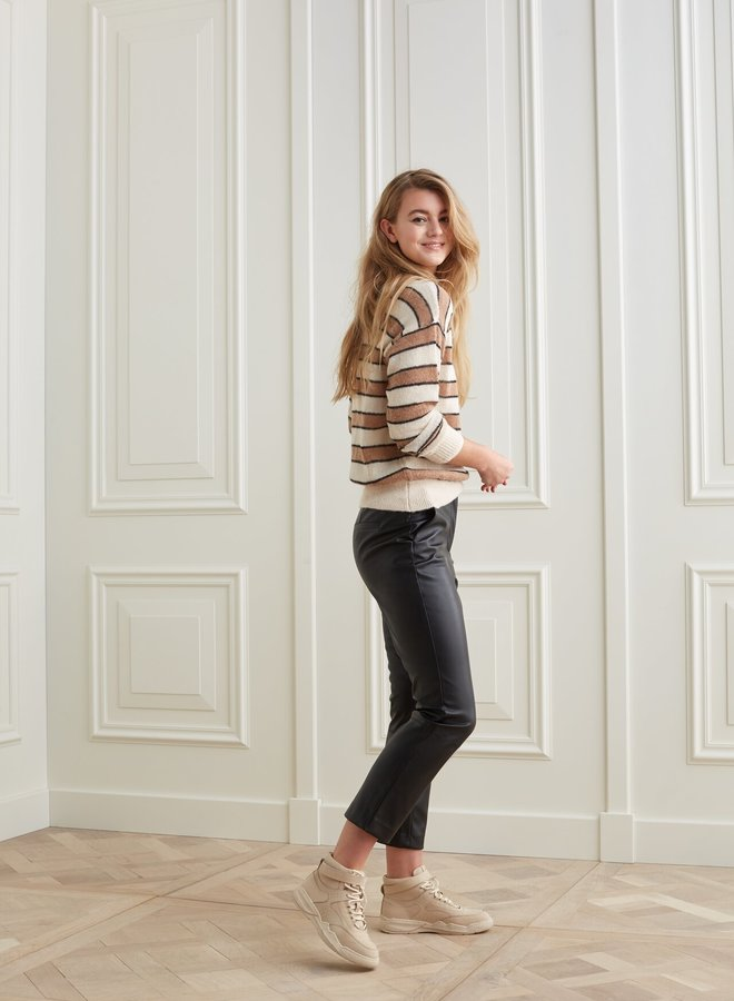 Yaya striped sweater french multi color
