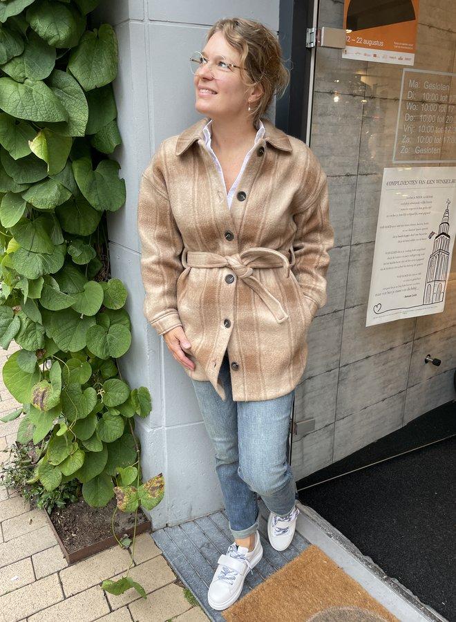 Dante6 trucker shirt-coat hazelnut