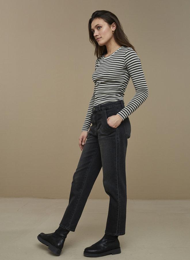 By Bar basic stripe shirt chalk