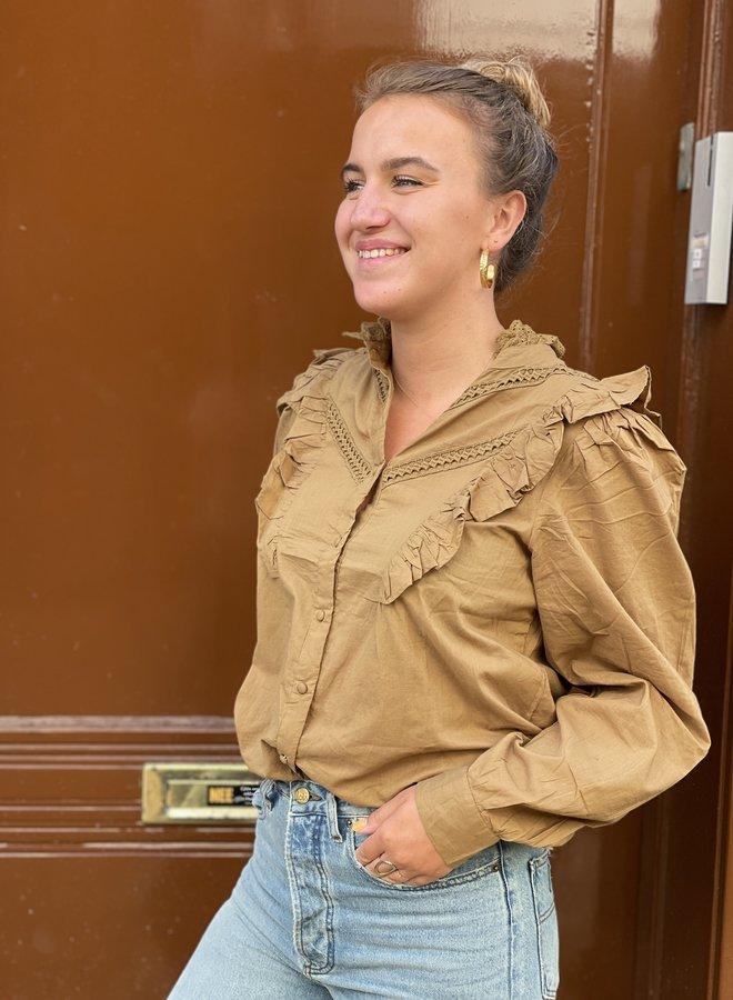 Circle celeste blouse golden