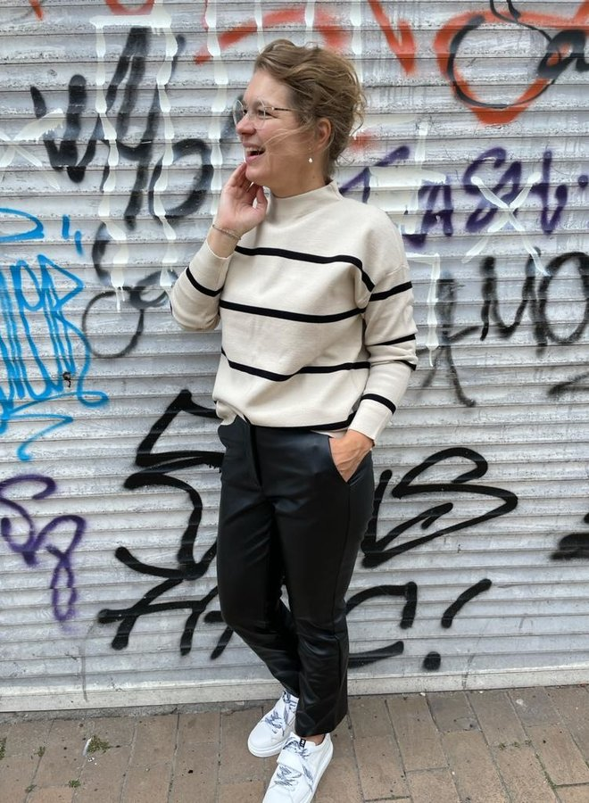 Yaya faux leather trouser black