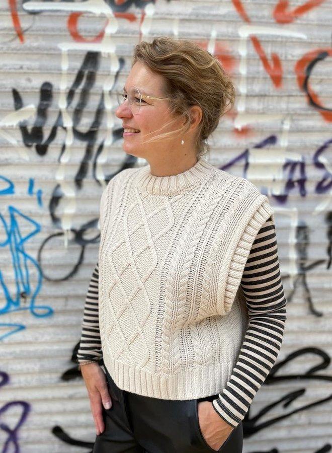 SF W21 piper knit vest birch