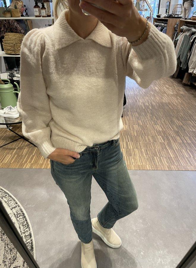 SF sia-louisa knit polo white