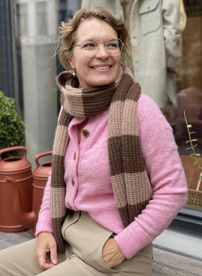 SF sia knit cardigan pink