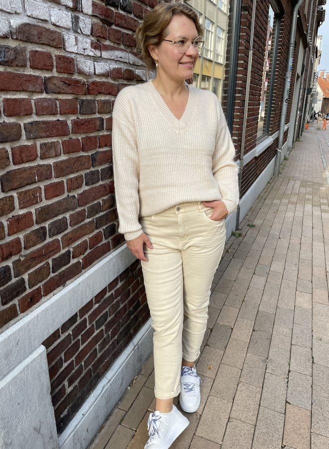 Circle emmy knit white