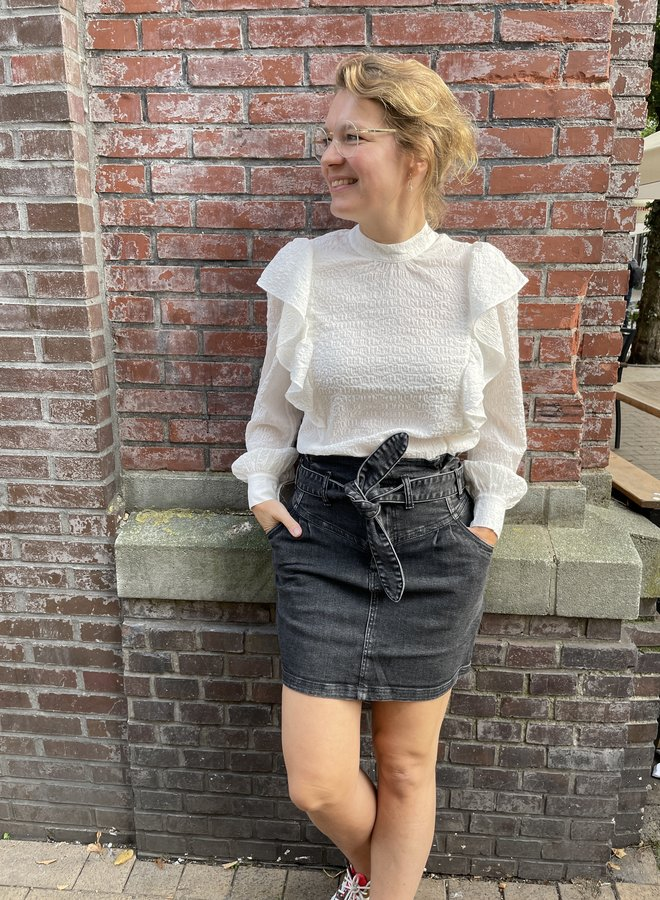 Circle dandy skirt black denim