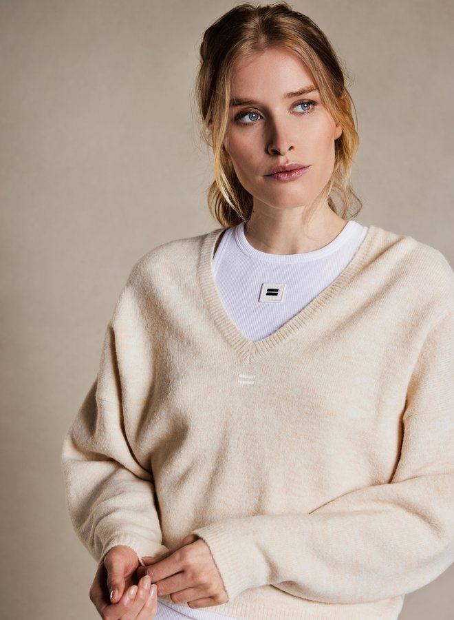 10DAYS v-neck sweater ecru