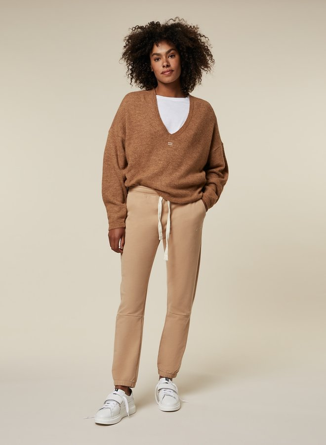 10DAYS cropped jogger camel