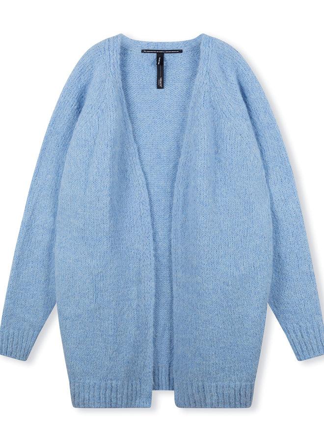 10DAYS cardigan alpaca blue