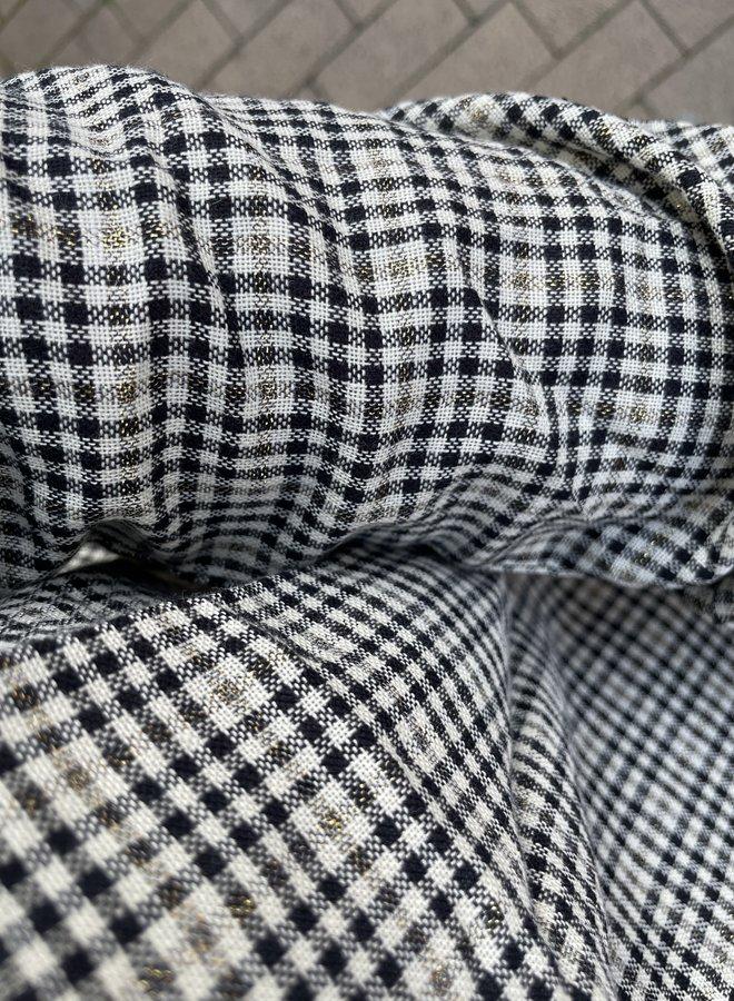 Circle dina blouse check
