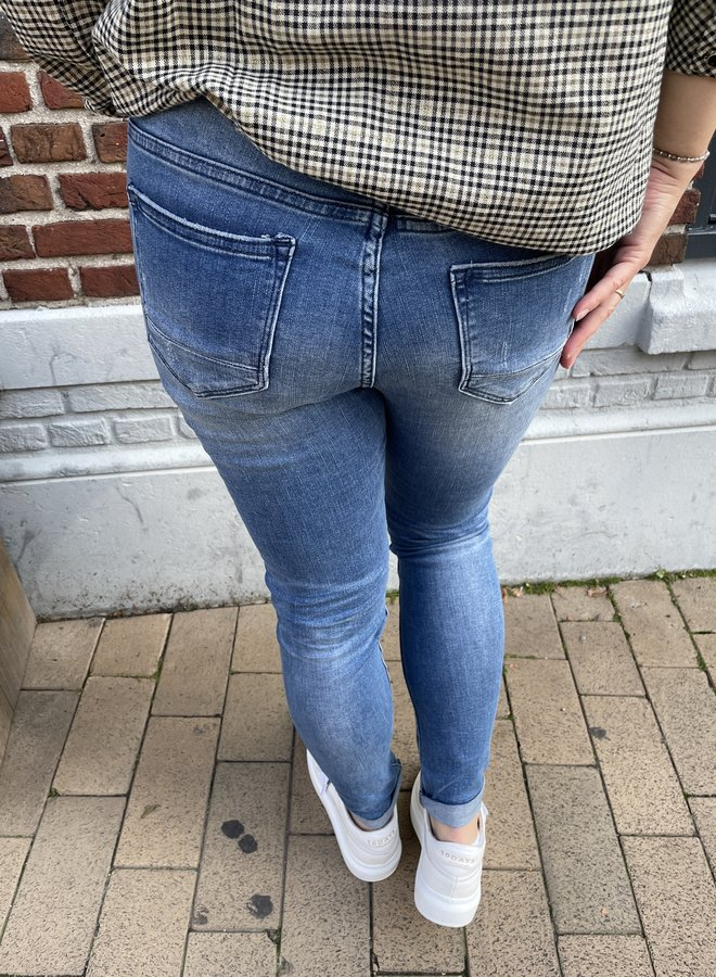 Circle cooper jeans whipped blue
