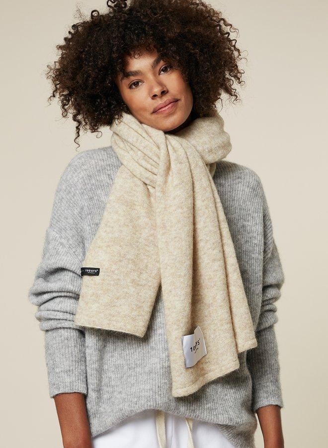 10DAYS soft knit scarf oatmeal