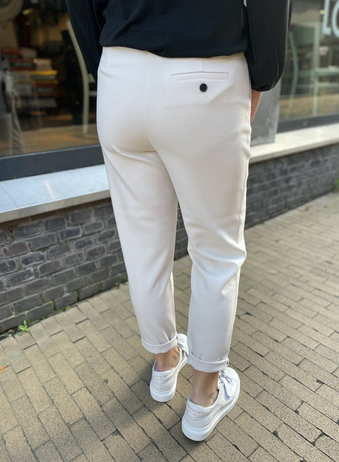 Yaya high waist pantalon beige