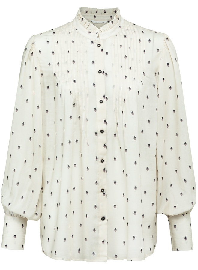 Yaya printed blouse sand