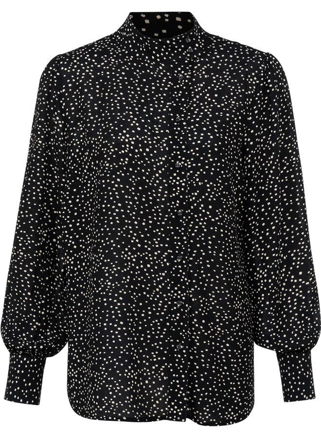 Yaya printed blouse black