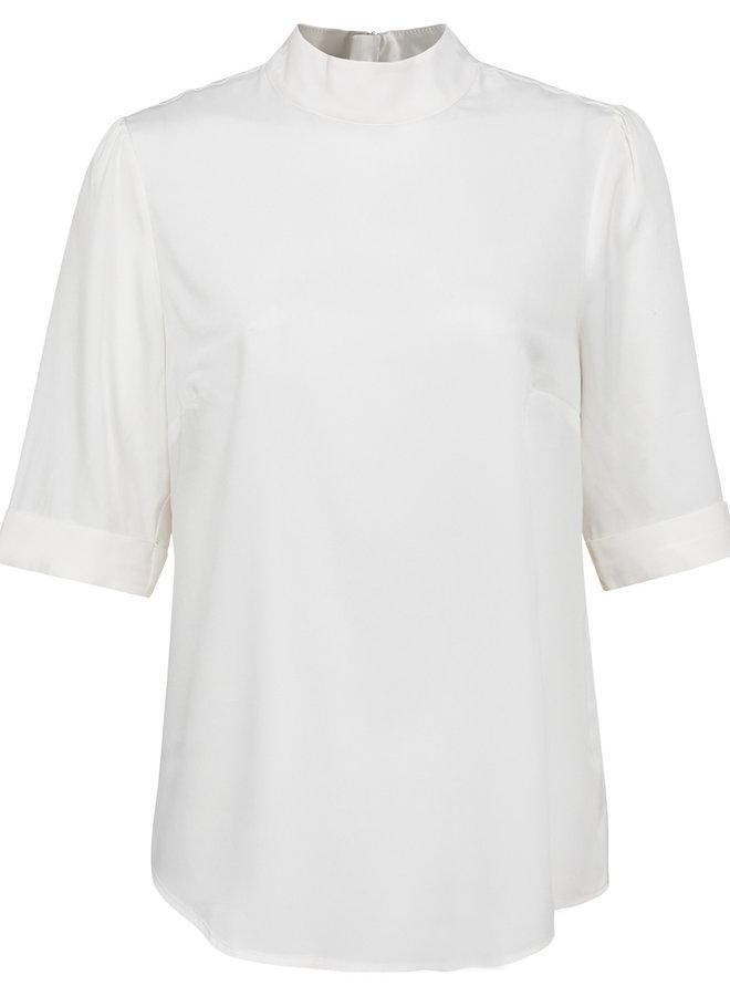 Yaya short sleeve top off white
